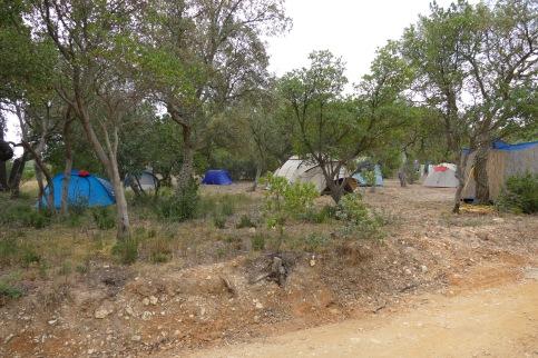 Campement des bénévoles
