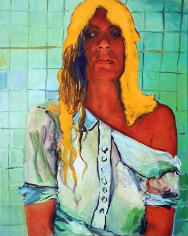 Tie&dye, huile sur toile, 200x160cm, 2016(HD)